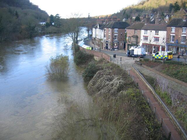 Ironbridge and flood defences