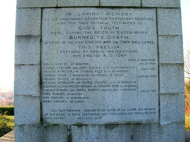 Martyr's Memorial Inscription