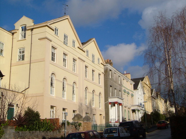 Houses on Clifton Hill, Exeter
