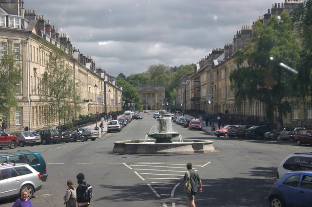 One of the famous streets of Bath