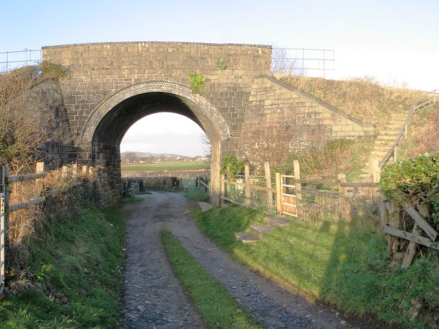 Rail bridge over farm lane, Loughor estuary