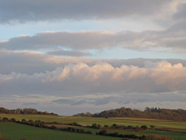 Vista from B3081 toward Cranborne