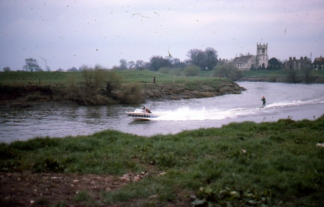 River Ouse at Cawood with Cawood Church
