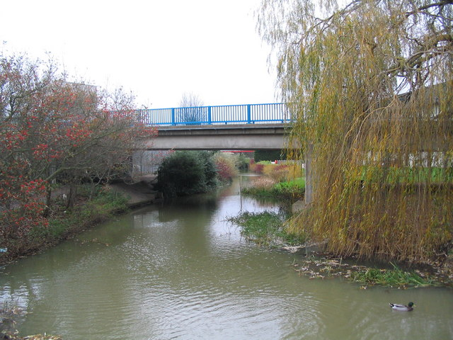 Scalford Brook flowing through the Pedigree Petfoods site