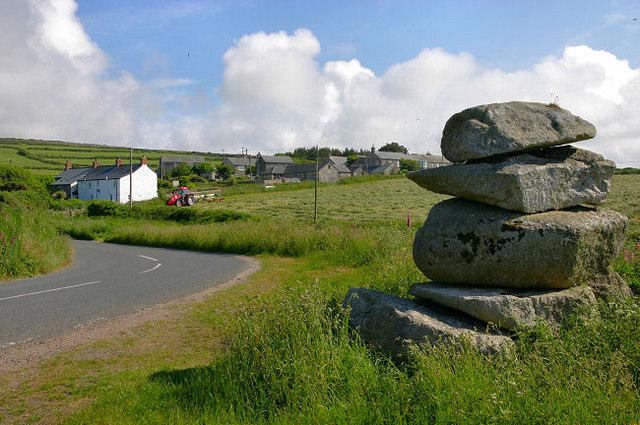 Granite cairn at Trevowhan