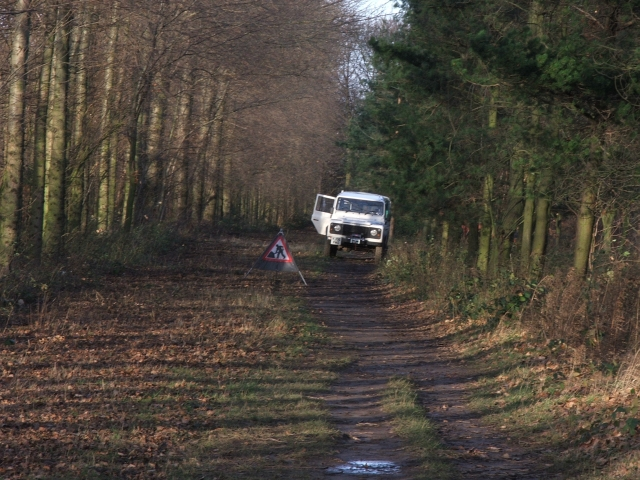 Wakefield City Council Landrover in Kings Wood.