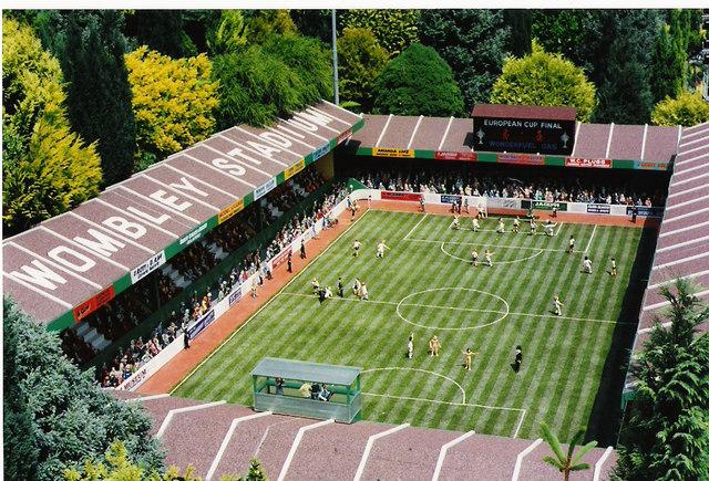 The football stadium at Babbacombe model village.