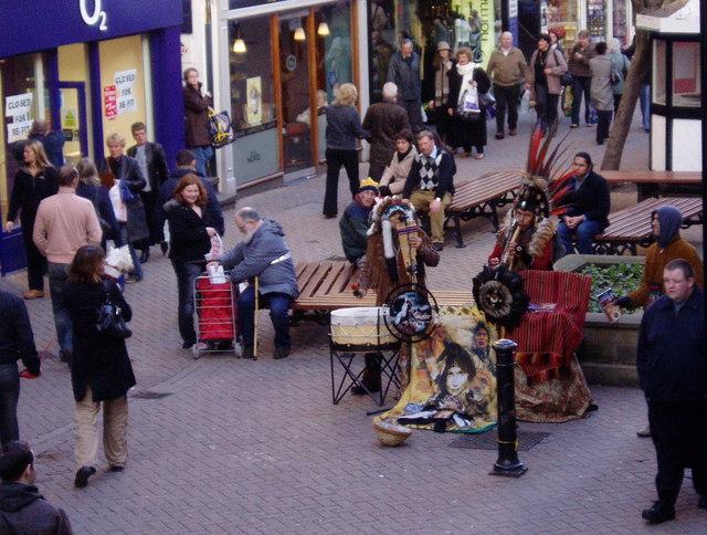 Street  entertainment, Chester