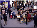 SJ4066 : Street  entertainment, Chester by Eirian Evans