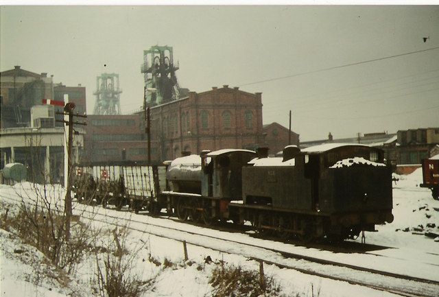 Winter at Blackhall colliery.