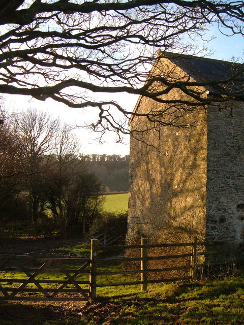 Barn and bridleway