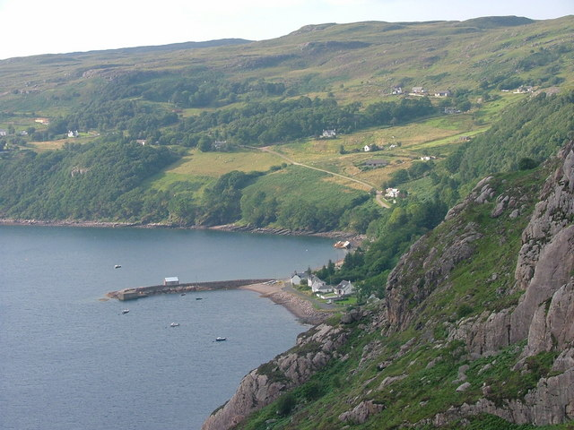 Diabaig jetty and Lower Diabaig village