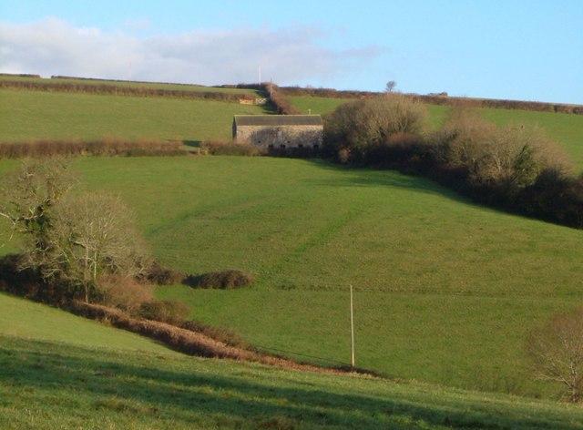 Barn above Efford House