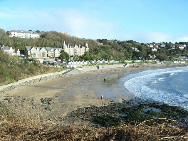 Langland Bay, in Winter