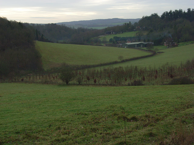 The valley above Danesfield