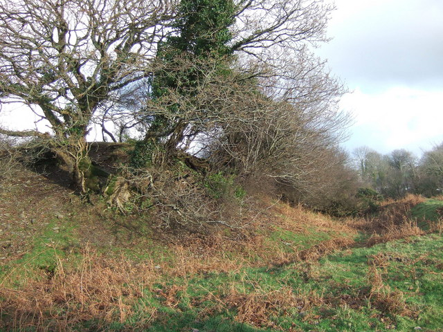 Motte and bailey castle, Eglwyswrw