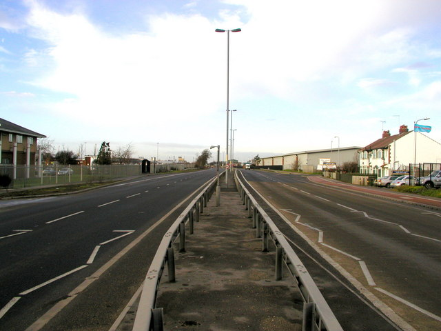 On the central reservation of the new Hedon Road dual carriageway.