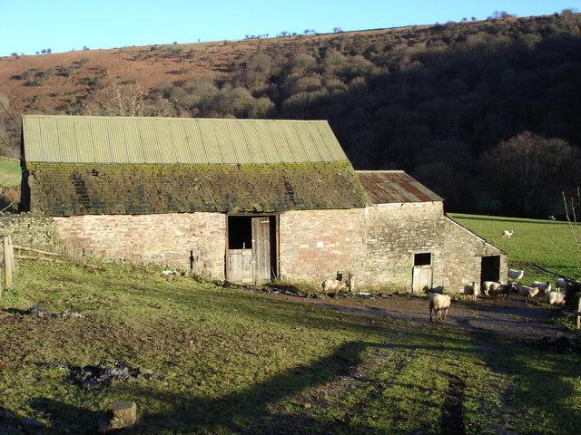 Farm building in the valley below Mynydd Du