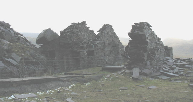 Ruins of the A5 Drum House at Ponc Penrhydd