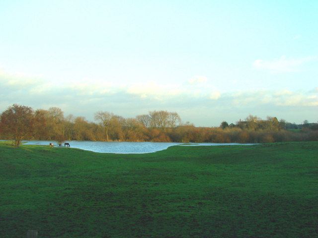 Flooded field Stutton.