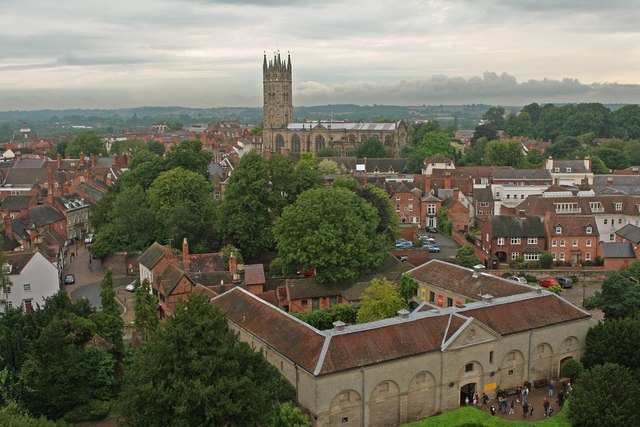 St Mary's from Warwick castle