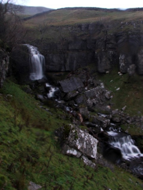 Waterfall at the top of Foss Gill.