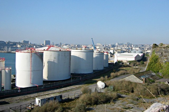 Oil Storage Tanks By The Cattewater