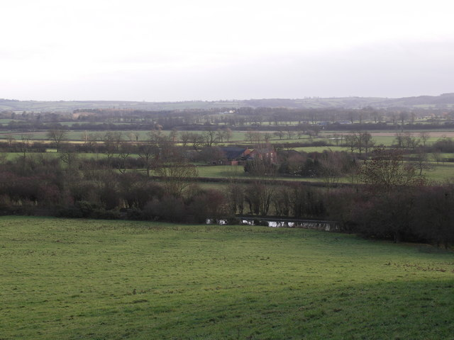 Ivy Lodge Farm viewed from Laughton Hills
