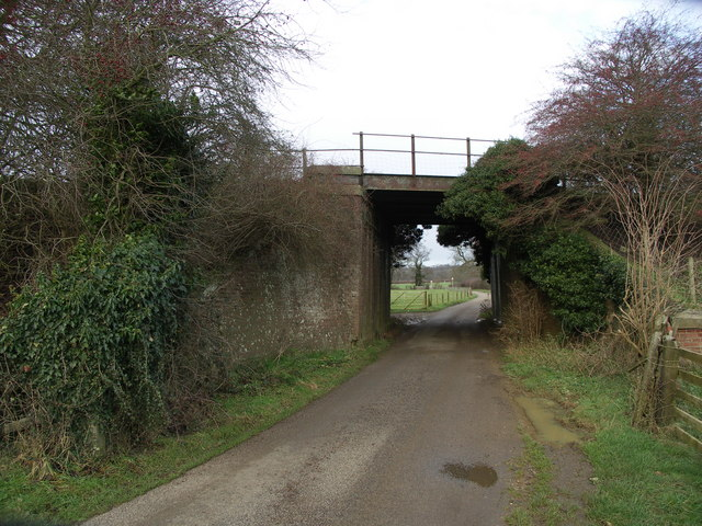 Railway bridge on dismantled Market Harborough to Rugby line