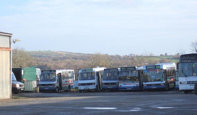 Bus depot, Trefdraeth/Newport