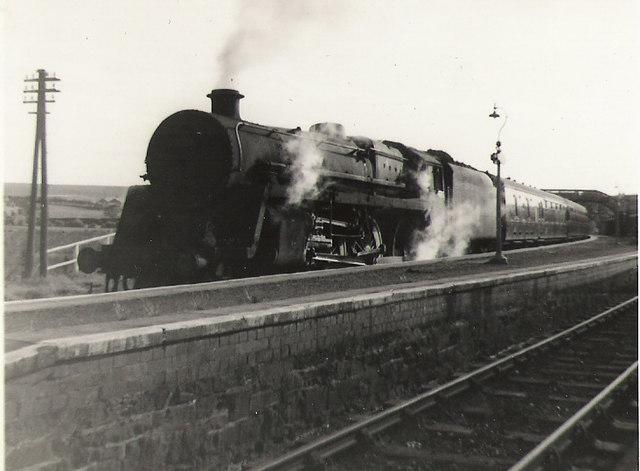 Train for Carlisle at Stranraer Town station.