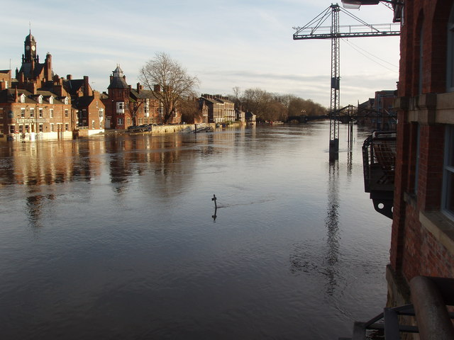 River Ouse, York, in Flood, December 2006