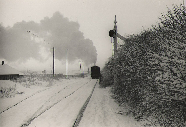 Steam and snow.