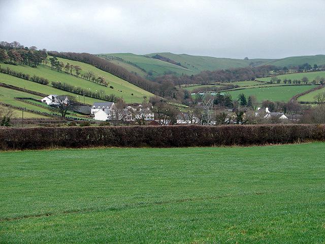 A view over Llanfihangel-y-Creuddyn