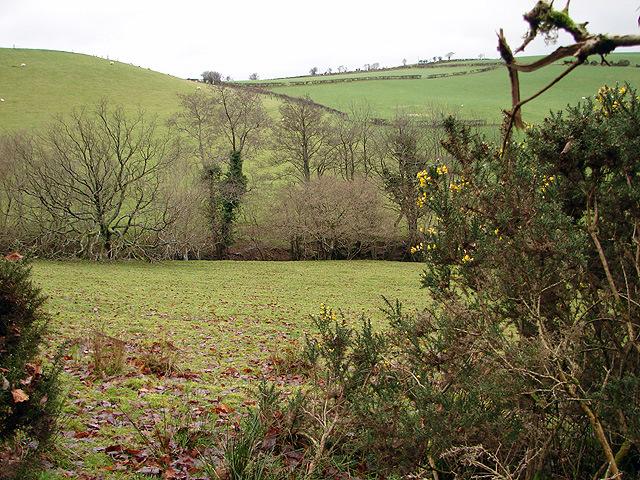 Farmland at Llanerch-yr-oen