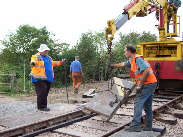 Building farmer's crossing on railway