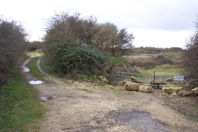 Bridleway and disused quarries