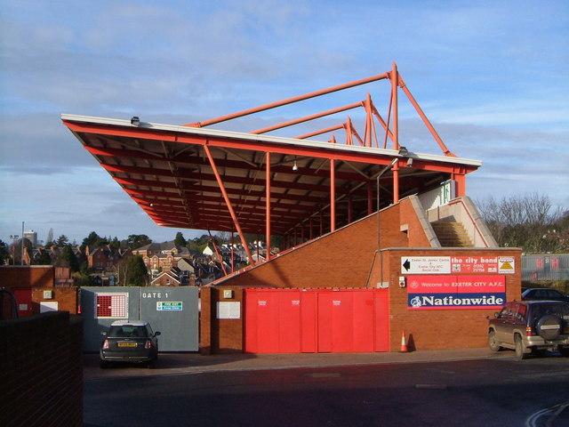Cliff Bastin Stand, St James Park, Exeter
