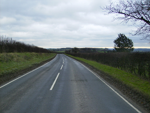 The B1257 east of Oswaldkirk