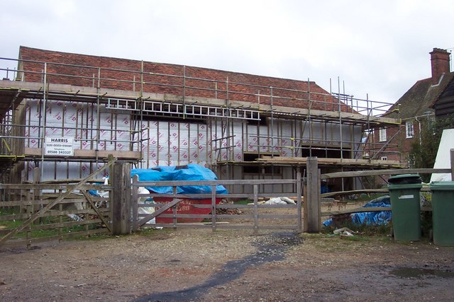 Barn renovation at Etchinghill Farm