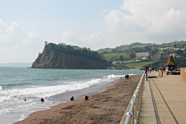 Teignmouth Promenade and The Ness