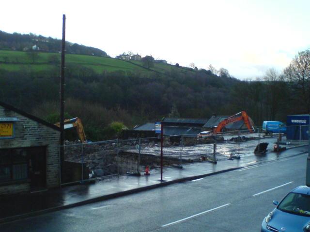 Demolishing work, Ripponden