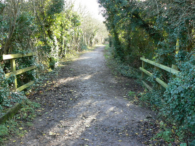 Trackbed of former Midland and South Western Junction Railway looking south
