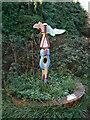 SU2068 : Modern milepost, Marlborough, Wiltshire by Brian Robert Marshall