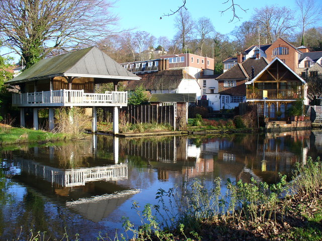 Boathouses on the Wey