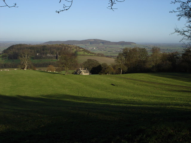 Dixton Hill and Alderton Hill viewed from Prescott
