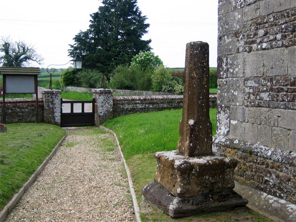 Base of ancient cross, St Mary's Church, Almer