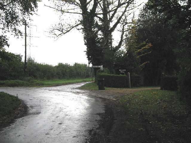 Road Junction At Holland's Hall