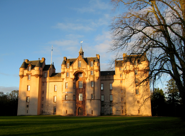 Fyvie Castle in early winter.