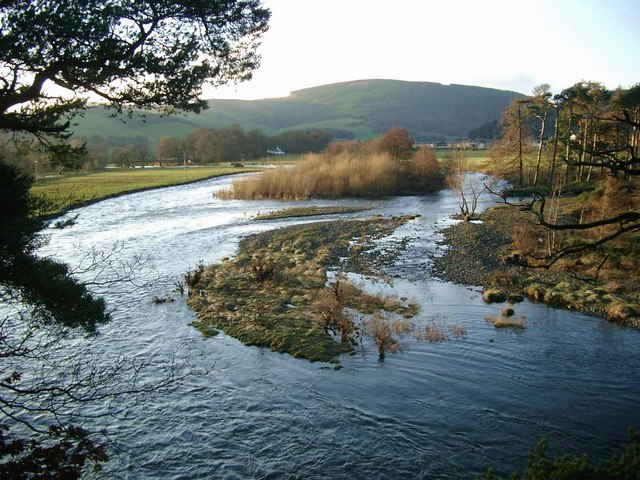 The Leithen Water meets the Tweed